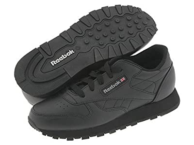 Reebok Kids Classic Leather (Little Kid) (Black) Kids Shoes