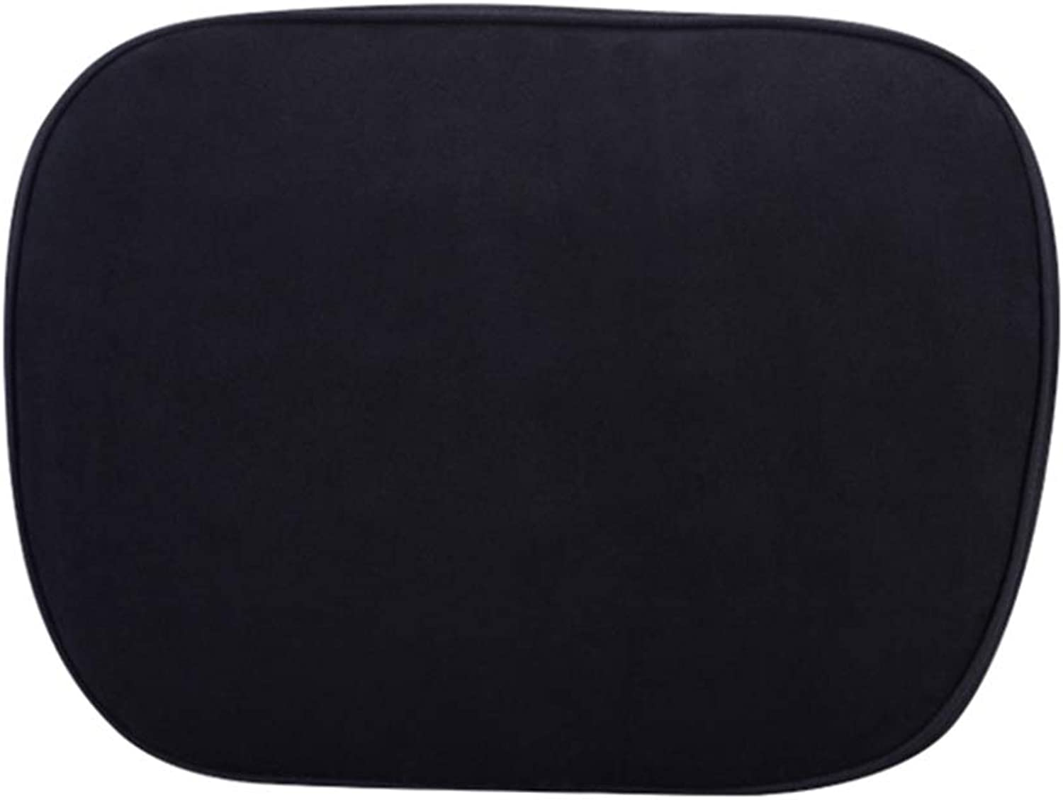Back Cushion Lumbar Support Pillow Ergonomic Back Support Car Memory Foam Neck Predection Four Seasons GAOFENG (color   Black, Size   Headrest)