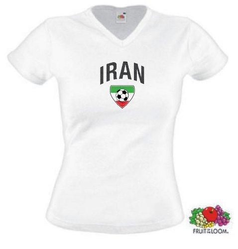 world-of-shirt Iran Damen T-Shirt Team Flag Trikot XXL