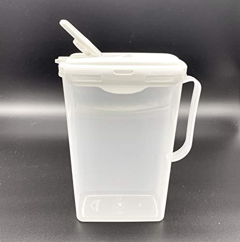 Glüman - Jarra para puerta de frigorífico (2 L, cierre de clip, cierre con tapa blanca)