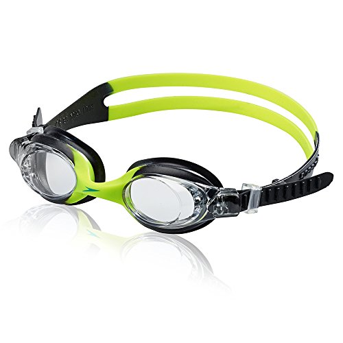 Speedo Unisex-Child Swim Goggles Skoogle Ages 3 - 8, Black/Green, One Size