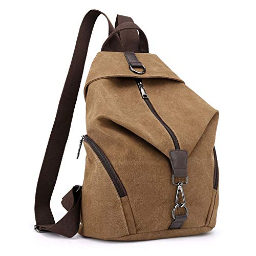 EVEOUT Vintage Practical Unisex Casual Canvas College Shoulder Backpack, Women and Mens...