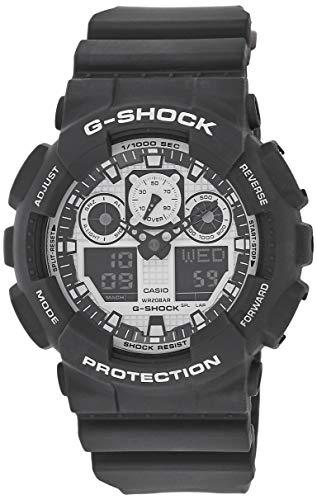 Casio G-SHOCK Orologio 20 BAR, Bianco/Nero, Analogico - Digitale, Uomo, GA-100BW-1AER