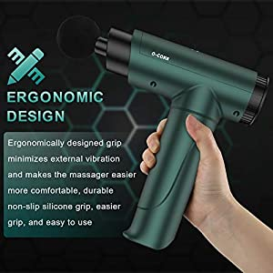Muscle Massage Gun, O-CONN Deep Tissue Massage Gun, Electric Handheld Percussion Massager for Back, Neck, Shoulder, Arms, Impact Device with 6 Adjustable Speed and 8 Interchangeable Heads