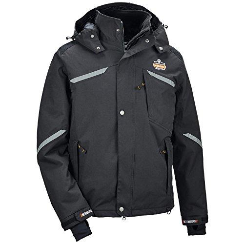 Ergodyne - 41114 N-Ferno 6466 Mens Winter Thermal Work Jacket, Black, Large