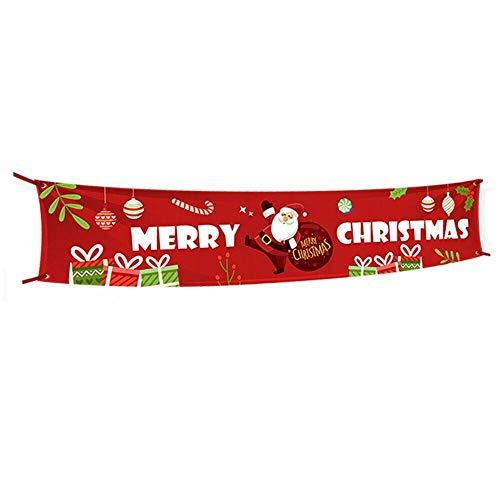Banner de Navidad, bandera de Feliz Navidad, gran señal de Navidad, casa de Navidad, decoración para fiestas al aire libre, 300 x 50 cm