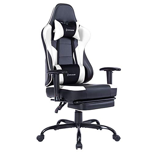 VON RACER Massage Gaming Chair Racing Office Chair - Adjustable Massage Lumbar...