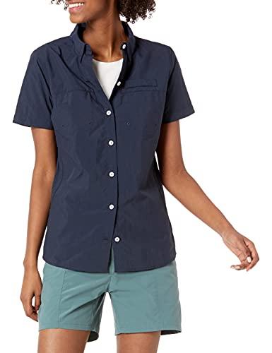 Amazon Essentials Camiseta de Manga Corta para Exteriores con Bolsillos en el Pecho Camisa, Azul Marino, XXL