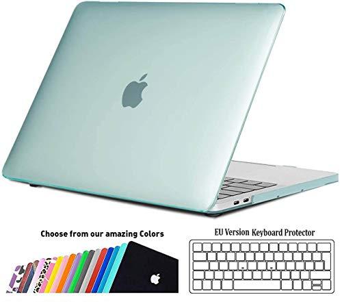 iNeseon Hülle für MacBook Pro 13 (2019 2018 2017 2016 Freisetzung), Plastik Hartschale Case Schutzhülle und Tastaturschutz für MacBook Pro 13 Zoll (A2159 A1989 A1708 A1706), Minzgrün