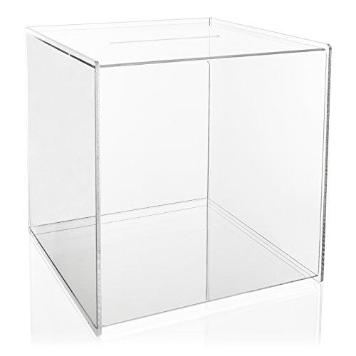 VITAdisplays® Losbox / Aktionsbox aus original PLEXIGLAS® (30 x 30 x 30 cm), Transparent