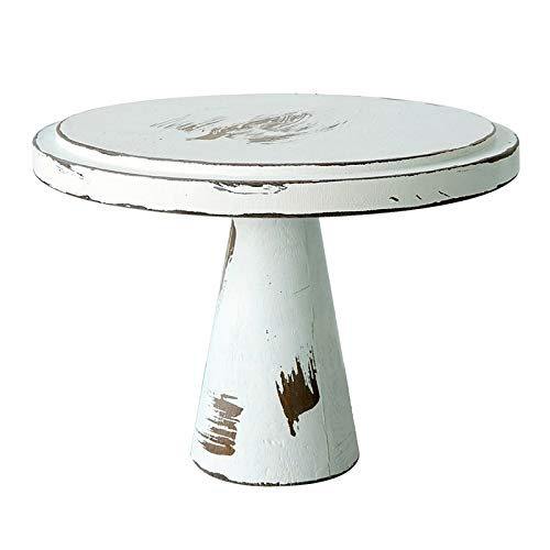 OVBBESS Soporte para tartas de madera blanca vintage para decoración de tartas, herramientas para fondant Cupcake