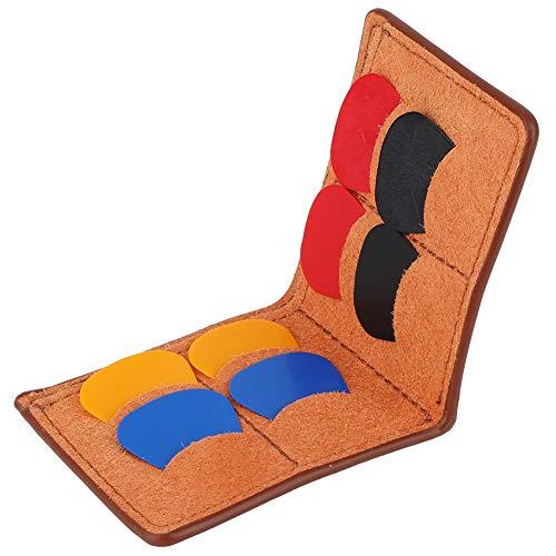 Drfeify plectrumhouder voor gitaren, draagbare plectrum-koffer tas plectrum-houder met plectrum-accessoires