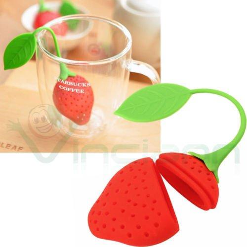 Teesieb Filter Teesieb Erdbeere Tasse Tee Blätter The Entschlackender Kräutertee Kamille Tea