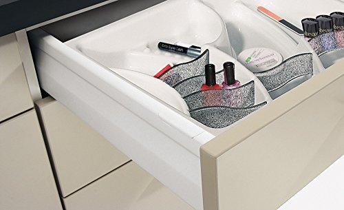 Cosmétiques utilisation tiroir tiroir pour universel blanc   pour largeur de la caisse : 300 mm – Hauteur 45 mm – gedotec® Powered by HÄFELE