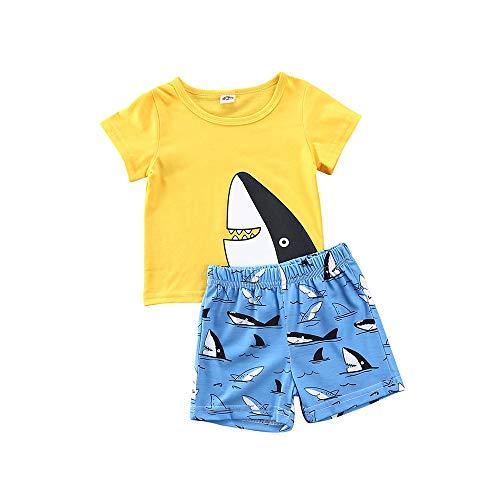 Loalirando Baby Jungen Kleidung Set Hawaii Kurzarm T-Shirt Top+ Kurze Hosen/Shorts Gentleman Sommer Outfits (4-5 Jahre, Gleb)
