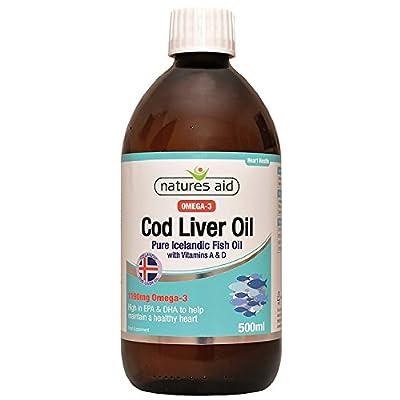 Natures Aid Health Cod Liver Oil Liquid 500ml (Pack of 3)