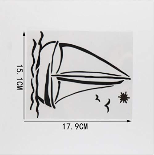 GenericBrands 5 Piezas Pegatina de Coche 15,1 CM * 17,9 CM Vinilo de navegación Pegatina de Coche Negro