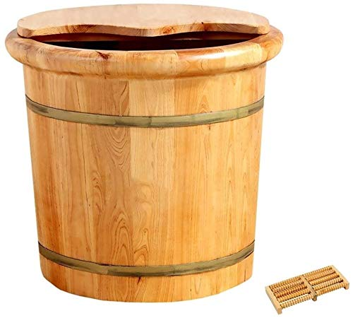 For Sale! FEPDW Solid Wood Foot Soaking Barrel Foot Bath Barrel Thicken Wooden Tub Solid Wood Foot W...