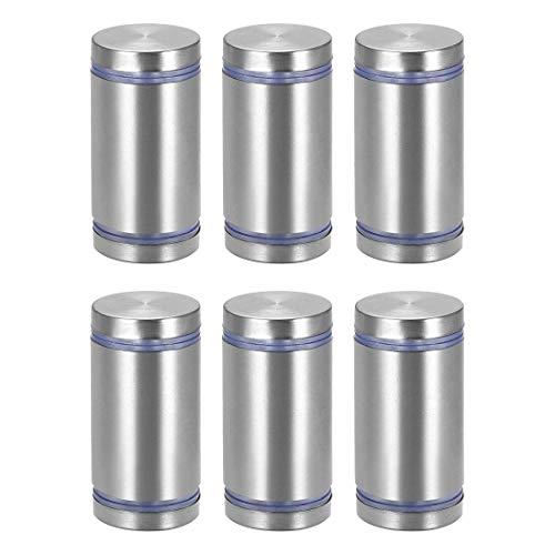 DyniLao 1 Dia x 1-3/4'(25x45mm) Tornillos separadores de doble cabeza Soportes para letreros de montaje en pared Uñas de vidrio acrílico 6 piezas