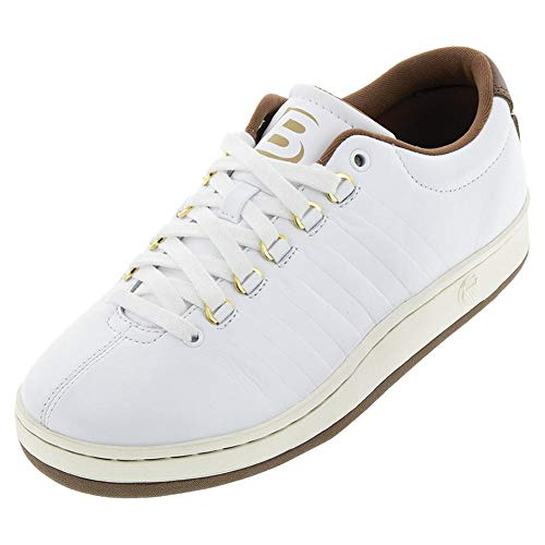 K-Swiss Men`s Classic 88 II Bryan Brothers Lifestyle Shoes White and Dark Brown (10 White and Dark Brown)
