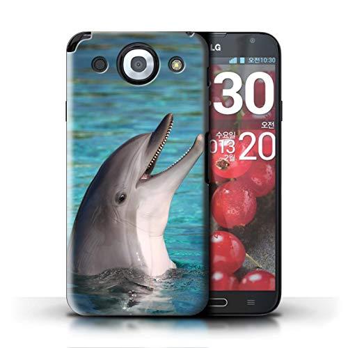 Stuff4® Hülle/Case für LG Optimus G Pro/Nettes Lachen Muster/Delfine Meereslebens Kollektion