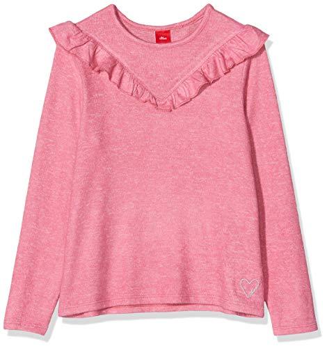 s.Oliver Mädchen 53.909.31.8953 Langarmshirt, Rosa (Pink Melange 45w8), 104/110 (Herstellergröße: 104/110/REG)