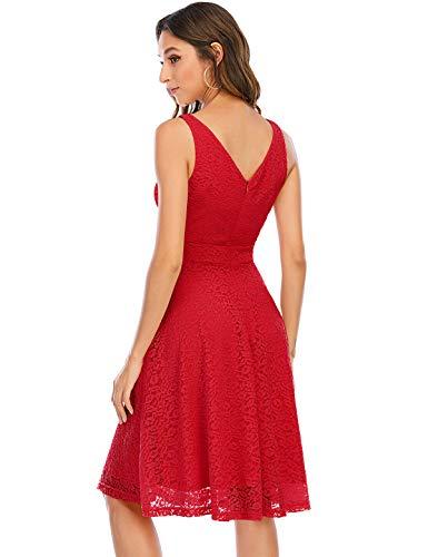 Bbonlinedress Brautjungfernkleider Rockabilly Kleider Gelb Damen Kleid Damener damenabendkleider Petticoat Kleid Kleid Hochzeit gast cocktailkleid Red S
