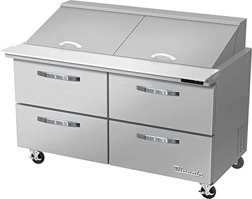Blue Air BLMT60-D4-HC 4 Drawer 60 inches Mega Top Refrigerated Sandwich/Salad Prep Table, 16.7 cu. ft