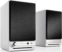 Best Audioengine HD3 Wireless Speaker | Desktop Monitor Speakers | Home Music System aptX HD Bluetooth, 60W Powered Bookshelf Stereo Speakers, AUX Audio, USB, RCA Inputs/Outputs, 24-bit DAC (White) Review
