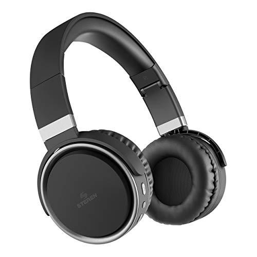 STEREN Audífonos Bluetooth de Diadema con batería de Larga duración