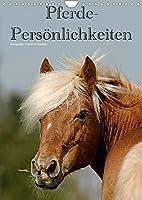 Pferde-Persoenlichkeiten - ausdrucksstarke Gesichter verschiedener Pferderassen (Wandkalender 2022 DIN A4 hoch): Besondere Rassepferde in unterschiedlichen Farben (Monatskalender, 14 Seiten )