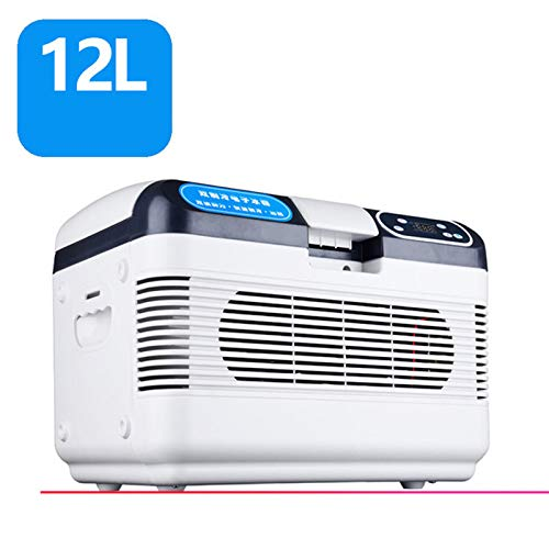 CICIN 19L Mini Auto Kühlschrank, Kühler Kühlung Heizung Kühlschrank Gefrierschrank Aluminium ABS Stumm Rack Kühlschrank Home Cosmetics Gekühlt,12L