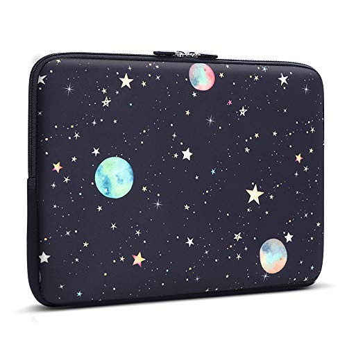 iCasso 13-13.3 inch Laptop Sleeve Bag, Waterproof Shock Resistant Neoprene Notebook Protective Bag Carrying Case Compatible MacBook Pro/MacBook Air - Starry Sky