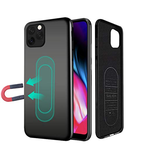 iPhone XR phone Case,Ultra Thin Magnetic Phone Case for Magnet Car Phone Holder with Invisible Built-in Metal Plate,Soft TPU Shockproof Anti-Scratch Protective Cover for iPhone XR 6.1''[Black]