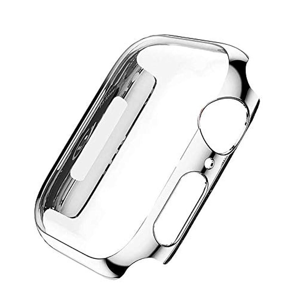 配る写真を描く過激派Apple Watch アップルウォッチ カバー 画面と本体の保護ケース アップルウォッチ保護カバー 5カラー 38mm 40mm 42mm 44mm Series1 Series2 Series3 Series4 38mm,SILVER
