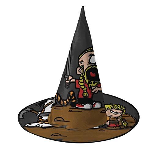 Ojipasd Calvin and Hobbes vikings Ragnar Lothbrok sombrero de bruja Halloween unisex disfraz para vacaciones, Halloween, Navidad, carnaval, fiesta