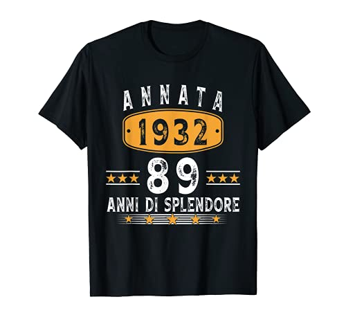 Annata 1932, 89 Anni Di Splendore regalo 89 anni Maglietta