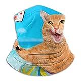 Fleece Neck Warmer ,multifunctional Cat Relaxing On Air Mattress Sea Scarf,a Full Face Mask Or Hat, Neck Gaiter, Neck Cap ,ski Mask, Half Mask,face