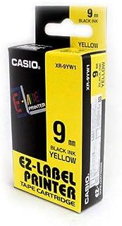 شريط لاصق من كاسيو بقياس 8 ملم * 9 ملم، لون اسود باصفر - XR-9YW1