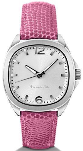 Tamaris - Reloj analógico con Correa de Cuero para Mujer, Color Rosa