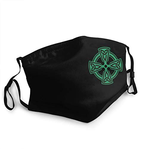 Celtic Cross Knot Irish Shield Warrior Face Mask Breathable Men Woman Adjustable Face Mask Reusable Cloth Washable Black