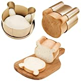Taerausi Forma de pão, molde antiaderente para cabeça de urso, molde para torrada, anel de mousse de desenho animado