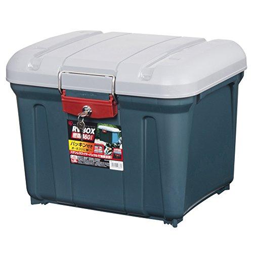 アイリスオーヤマ 密閉 収納 BOX カギ付 455×361×351 密閉RVBOX 鍵付460 グレー/ダークグリーン