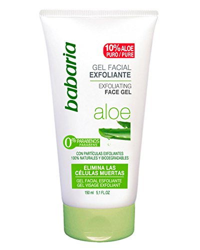 Babaria Aloe Vera - Gel exfoliante facial, 150 ml