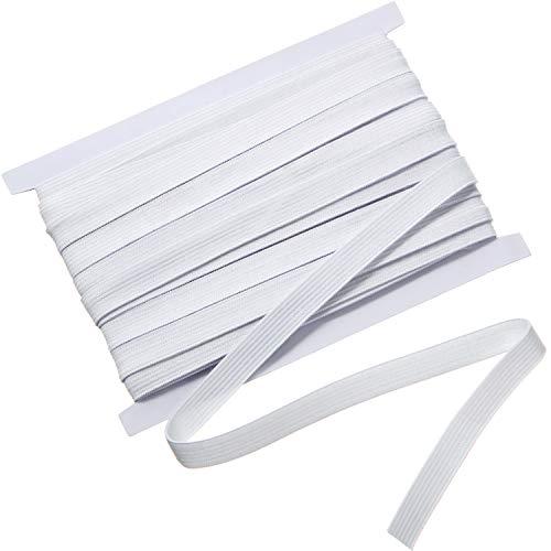 White Wide Sewing Elastic Knit Elastic Spool (1/2 Inch x 11 Yards)