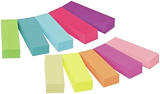 Post-it Pack de Marque-pages 10x50 X 15mm x 50mm Couleurs Assorties lot de 10