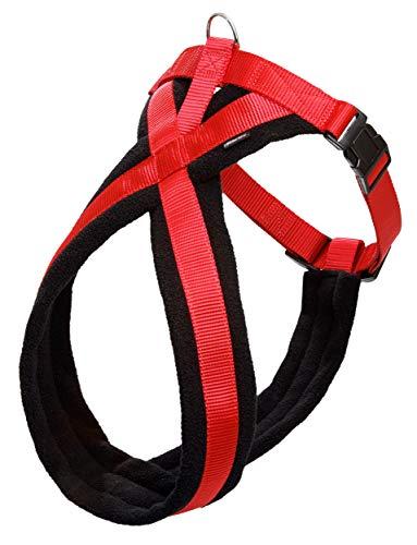 Karlie Art Sportiv Plus Geschirr Cross B: 25 mm Br um: 58 - 70 cm schwarz-rot