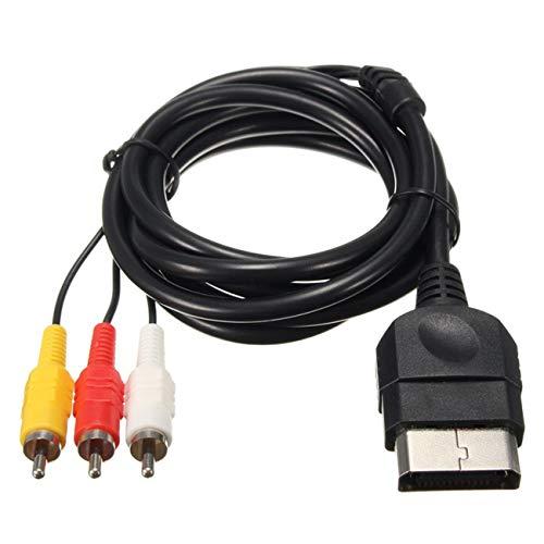 Ashley GAO 1 cable de audio y vídeo compuesto de 6 pies AV para Xbox Classic 1 de definición estándar TV o monitor