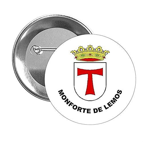 CHAPA ESCUDO HERALDICO MONFORTE DE LEMOS LUGO
