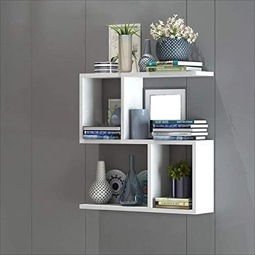 DGDF Moderna personalidad minimalista estante de pared armarios colgantes sala de estar estudio decoración madera particiones dormitorio perforado